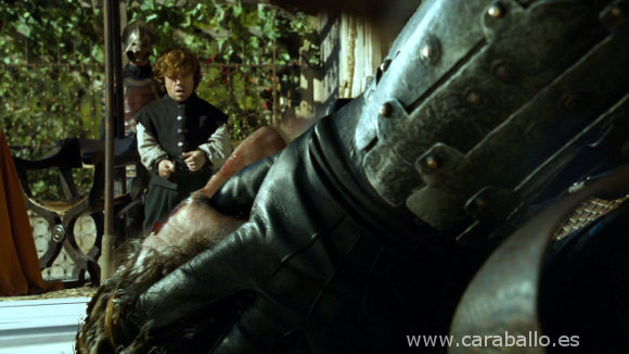 Juego de Tronos - La Montaña y la Víbora. Tyrion, a punto de vomitar todo su desayuno