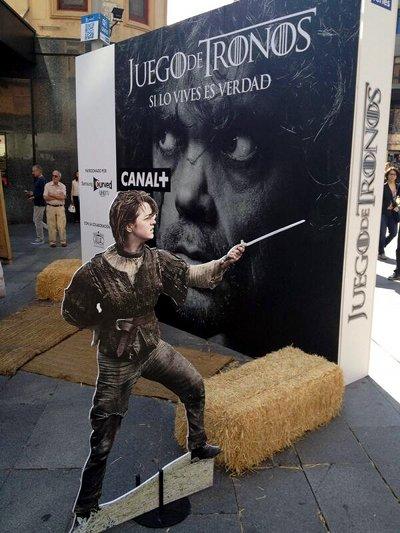 El Season 4 Finale de Juego de Tronos en la madrileña plaza del Callao