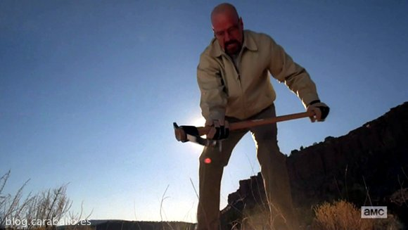 Breaking Bad 5x10. 'Buried'. Walter a golpe de pico.