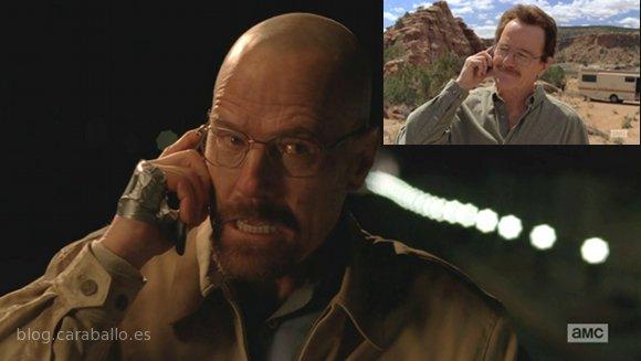 Breaking Bad 5x14. Ozymandias. Walter y Heisenberg haciéndose pasar por sus respectivos.