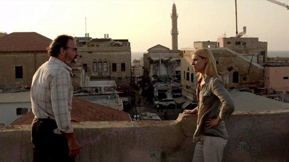 Saul y Carrie en Beirut.