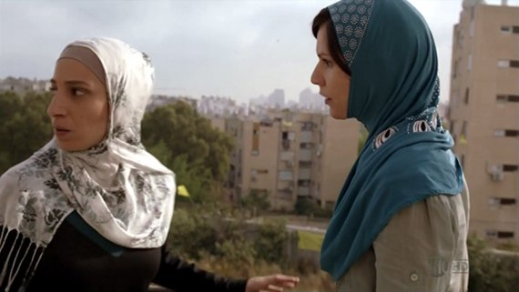Carrie y una de sus confidentes en Beirut.