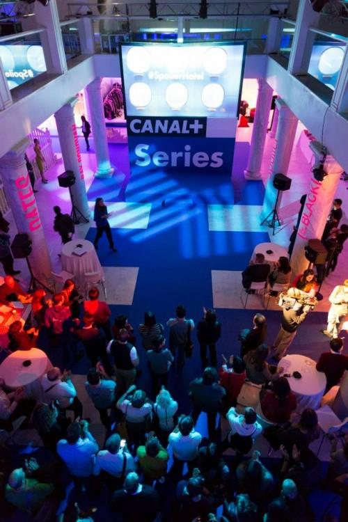 Inauguración del nuevo Canal+ series en el Palacio de Neptuno de Madrid.