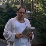James Gandolfini en su imortal papel como Tony Soprano
