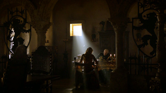 Juego de Tronos - And Now His Watch Is Ended - Cersei y su padre Tywin Lannister