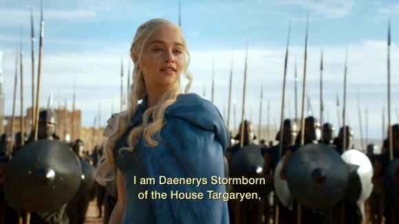 """Juego de Tronos - And Now His Watch Is Ended - """"Soy Daenerys de la Tormenta, de la Casa Targaryen"""""""