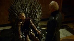 Juego de Tronos - El Oso y la Doncella. El Rey Joffrey, a la sombra de su abuelo Tywin Lannister