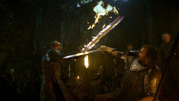 Juego de Tronos - Besada por el Fuego. Lord Dondarrion contra Sandor Clegane