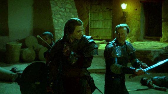 Juego de Tronos - Las Lluvias de Castamere. Gusano Gris, Daario Naharis y Jorah Mormont