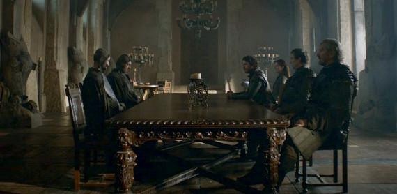 Juego de Tronos - The Climb (El Ascenso). Emisarios de la familia Frey negocian con Robb Stark