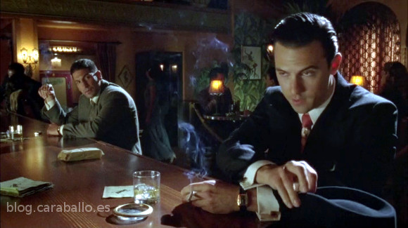 Mob City. Piloto. Jon Bernthal y Milo Ventimiglia en el Bunny's Jungle Club.