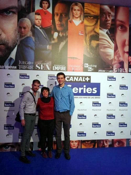 Presentación Canal+ Series. Junto a Alfredo L. Zamora (izquierda) y Miriam Lagoa.