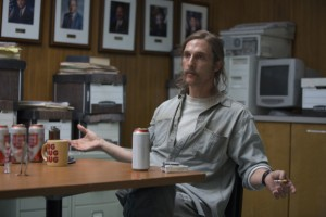 "'True Detective'. Matthew McConaughey interpreta a Rustin ""Rust"" Cohle."