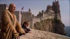 Tyrion y Lord Varys en Desembarco del Rey