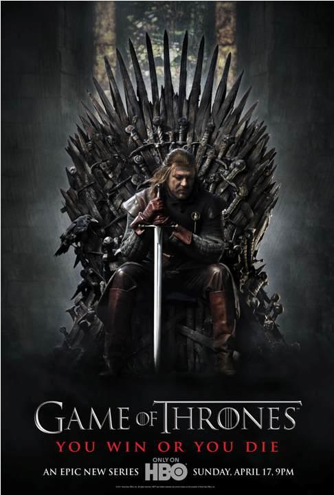 """Póster oficial de la serie de HBO """"Juego de Tronos"""""""